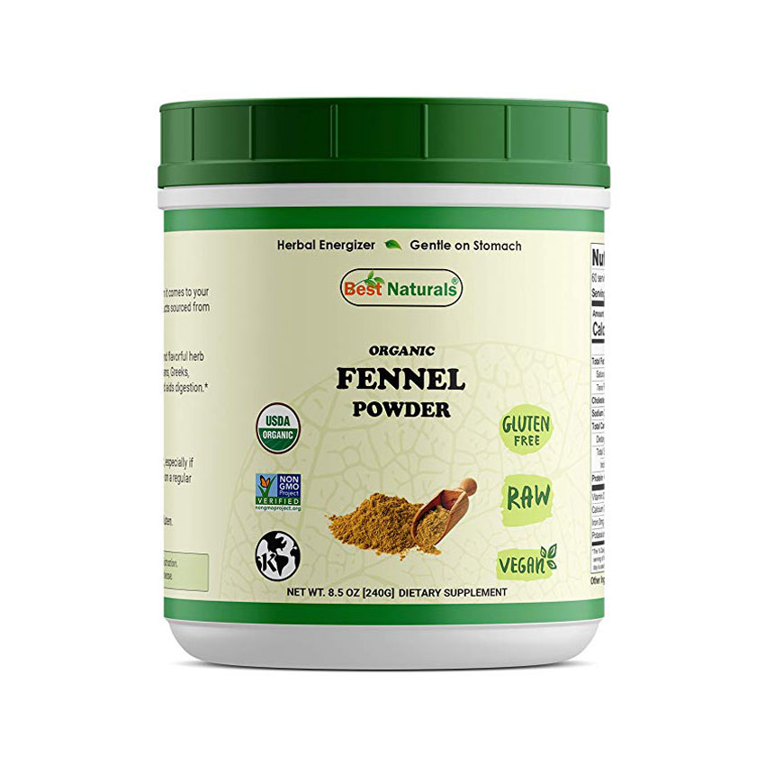 Best Naturals Certified Organic Fennel Seeds Powder
